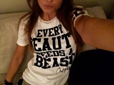 """Every beauty needs a beast""Shirt by Outfitfabrik ❣ #outfitfabrik #partnershirts"