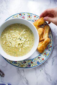 Broccoli Cheese Soup with Halloumi FriesReally nice recipes.  Mein Blog: Alles rund um Genuss & Geschmack  Kochen Backen Braten Vorspeisen Mains & Desserts!