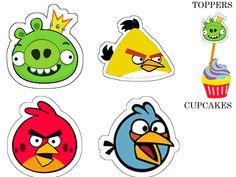 """THEME""""ANGRY BIRD"""" mini theme - 1 et 2 et 3 DOUDOUS * PATRONS* PATTERNS * GABARITS FETE A THEMES POUR ENFANTS"""