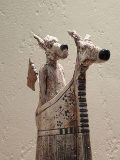 I love jesus Ceramic Animals, Clay Animals, Pottery Animals, Ceramic Figures, Ceramic Artists, Art For Art Sake, Sculpture Clay, Animal Sculptures, Dog Art