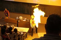 Carleton Hosts Fifth Annual Chemistry Magic Show. Fire will be contained to front of room.