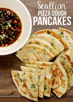 Scallion Pizza Dough Pancakes