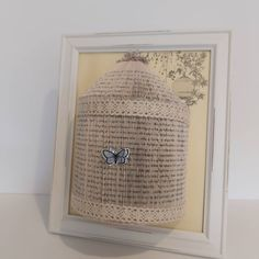 This shabby chic bird cage book fold picture was recently sent out to a customer it had a very vintage look #vintage #birdcage #bookfold