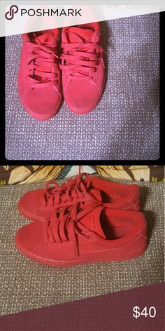 Boys red Pumas Boys red Pumas. Excellent condition. Worn only a few times. Size 7 Puma Shoes Sneakers