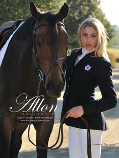 Hannah Selleck and Bauer in an ad for Allon Equestrian