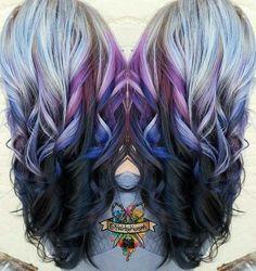 Hair Chalk - Pastel purple black ombre hair anyone  fa4a50ed656