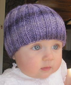 Alpaca Baby Beanie Hat Purple Hand Dyed silky soft by Alpaca4US, $20.00