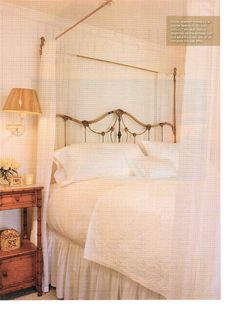 "Occasionally a bed the beauty of a bed frame will be lost because of the abundance of ""dressing"".  I can attest to the quality and beautiful design that Cathouse Beds transforms  antique iron beds over 100 years old into  any size you clients want he is a master at this!  Roberta Peters Design"