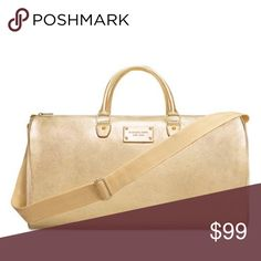 92ecc4372811 MICHAEL KORS Gold Weekender bag purse travel new New with tags. Measures  17