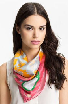 Sonia Rykiel 'Heart' Square Silk Scarf available at #Nordstrom $130