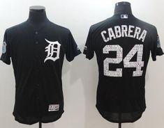 f00f3da62 Tigers  24 Miguel Cabrera Navy Blue 2017 Spring Training Authentic Flex Base  Stitched MLB Jersey