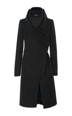 Cashmere Double Collar Coat by BRANDON MAXWELL for Preorder on Moda Operandi