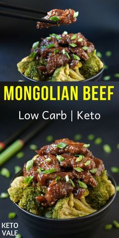Low Carb Mongolian Beef Recipe for Keto Diet