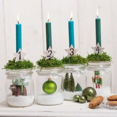 Adventsdeko selber machen: Anleitung - [EINFACH HAUSGEMACHT] Christmas Is Coming, Best Christmas Gifts, Christmas Time, Xmas, My New Room, Bottle Crafts, Wedding Centerpieces, Diy And Crafts, Projects To Try
