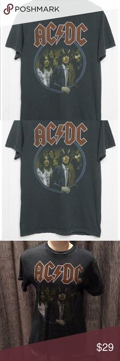 Brandy Melville AC/DC Vintage Graphic One Size NWT Brand new with tag, one size fits all, graphic of AC/DC, vintage graphic tee Brandy Melville Tops Tees - Short Sleeve