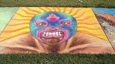 2012 Luna Park Chalk Art Festival in San Jose, CA. Mexican-style wrestling mask. by rowanf, via Flickr