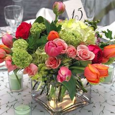 Image result for casual table flower arrangements