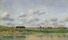 Charles-Francois Daubigny - Banks of the Loing, late 1860s (80,0 x 48,0 cm)