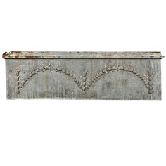 Zinc Over-Door Panel with Flower/Vine Decoration ca. 1880-1900 | From a unique collection of antique and modern architectural elements at https://www.1stdibs.com/furniture/building-garden/architectural-elements/