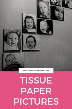 Tissue paper pictures on canvas. How to make a gallery wall