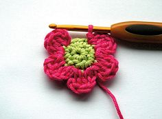 Learn how to crochet with Mollie Makes. Gloucestershire Resource Centre http://www.grcltd.org/scrapstore/