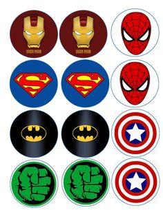 Superhero logo variety edible image/cake, cupcake, cookie, o Avengers Birthday, Superhero Birthday Party, Birthday Parties, Superhero Logo Templates, Superhero Logos, Marvel Baby Shower, Avenger Cupcakes, Chocolate Covered Oreos, Etsy