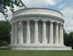 The Warren Harding Tomb monument in Marion, Ohio