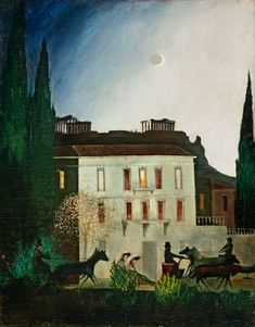 Exit at new moon in Athens - Tivadar Csontváry-Kosztka (Hungary, 1853-1919) (Expressionism)