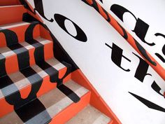 Stair case anamorphic type Anamorphic, Stair Case, Cancer, Stairs, Typography, Type, Inspiration, Letterpress, Biblical Inspiration