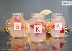 Personalized Bridesmaid Gift - (ONE) Custom Engraved Mason Jar with Handle - Personalized Glass Mason Jar Tumbler - Monogrammed Gift by LetsTieTheKnot