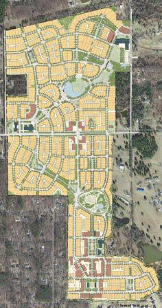 Land Development in Saline County Arkansas. From Raw land to Developed Land, the whole process. Urban Design Concept, Urban Design Diagram, Urban Design Plan, Landscape Design Plans, City Landscape, Urban Landscape, City Skylines Game, City Layout, New Urbanism