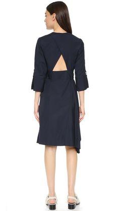 3.1 Phillip Lim Belted Dress with Asymmetrical Hem