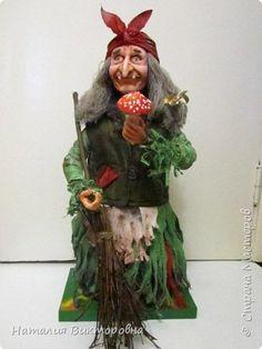 Baba Yaga je vyrobená na objednávku - výška 60 cm! Farba odevov je želaním zákazníka! foto 1