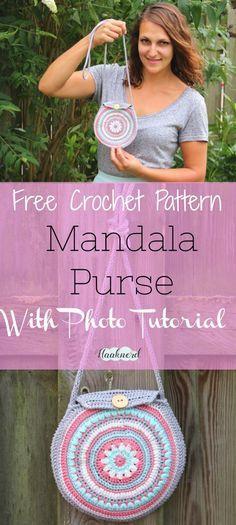 Free crochet pattern with photo tutorial of a mandala purse   Haaknerd