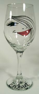 Wine glass faces