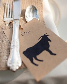 In lieu of numbers, tables were identified by various animals that could be spotted around the venue's farm