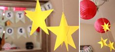 space/alien theme hanging star decoration