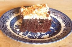 Butterfinger Cake (This is actually very good and super easy to make.)