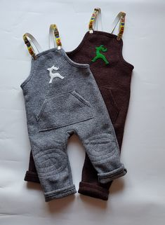 Kinderhosen aus Wollwalk / Naturfaser Kind Mode, Overalls, Rompers, Pants, Dresses, Fashion, Catsuit, Gowns, Moda