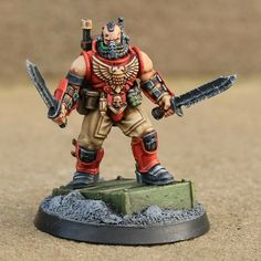 A spacemarine scout with two knives for reasons.
