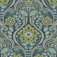 Night Bloom Charcoal Damask Wallpaper | Wallpaper Warehouse