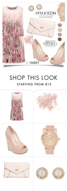 """""""Pretty Powerful"""" by natalie1789 ❤ liked on Polyvore featuring Alexis, Bare Escentuals, Jessica Simpson, GUESS, Kate Spade and Terre Mère"""