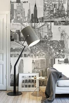 Grey & white. Love the floor boards