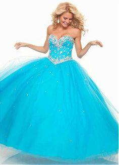 Gorgeous Tulle & Satin Sweetheart Neckline Floor-length Ball Gown Evening Dress