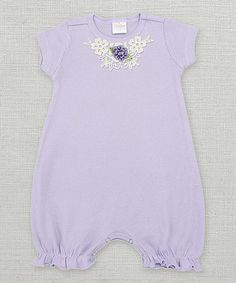 Loving this Violet & Thistle Floral Lace Bubble Romper - Infant on #zulily! #zulilyfinds