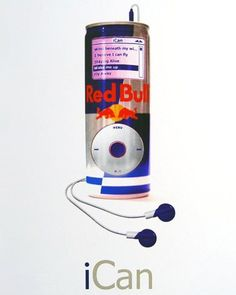 iPod + Red Bull = ? That would be a good comination when you like Red Bull. ;)  via http://saracjordao.tumblr.com/post/2914512716/only-if-i-liked-redbull