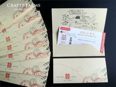 Malaysia Vendor Boarding pass invitation card
