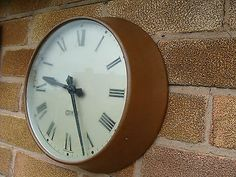 Vintage Gents of Leicester Clock Copper 9 1/2 Dial Restoration Display pub cafe