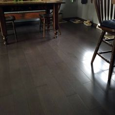 Engineered floors like Pewter Maple can be installed in any area of the home – even places with high moisture content like basements & kitchens! See more about this gorgeous gray floor: http://www.lumberliquidators.com/blog/featured-floor-schon-pewter-maple/