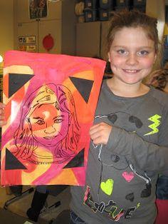 4th grade Mary Cassatt Self Portraits